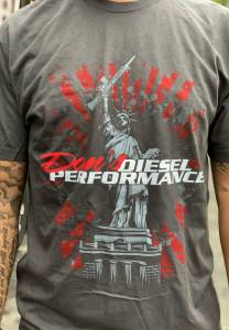 Dan's Diesel Performance, INC. - DDP Lady Liberty Gray T-Shirt