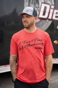"""DDP Vintage Red """"Fine Machinery"""" T-Shirt"""