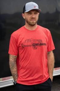 DDP Vintage Red Truck Outline T-Shirt