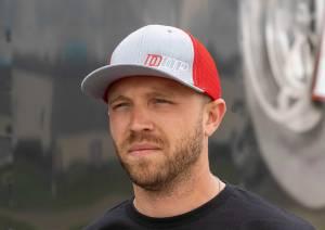 DDP Merchandise - Hats - Dan's Diesel Performance, INC. - DDP Red & Gray Large/X-Large Flex Fit Hat w/ Abbreviated Logo