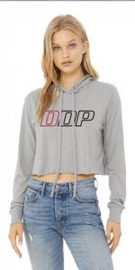 DDP Merchandise - Sweat Shirts - Dan's Diesel Performance, INC. - DDP Gray Abbreviated Logo Crop Hoodie