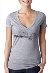 DDP Women's Gray V-Neck Shirt